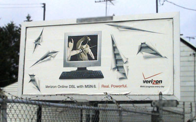 Verizon fencing billboard 1