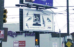 Verizon fencing billboard 2